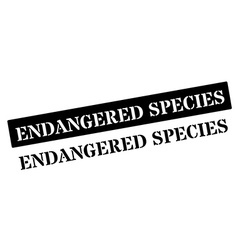 Endangered species black rubber stamp on white vector