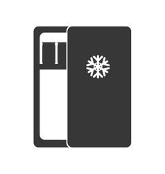 Fridge silhouette icon house design vector