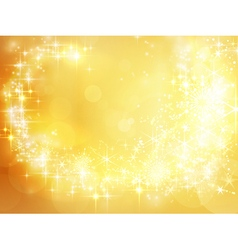 Abstract golden holiday Christmas vector image vector image