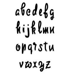 Alphabet calligraphic font unique custom vector