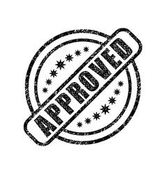 Approved damaged stamp vector