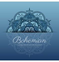 Beautiful henna mandala ornament design vector image vector image