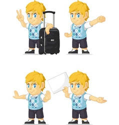 Blonde rich boy customizable mascot 15 vector