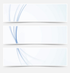 blue abstract swoosh wave line web headers vector image vector image