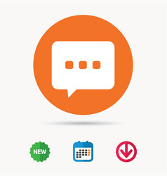Chat icon speech bubble sign vector