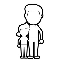Dad and son design vector