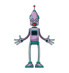 Funny robot technology toy vector
