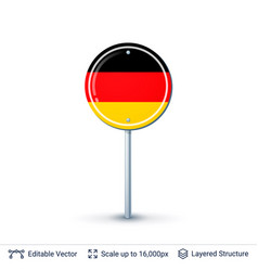Germany flag isolated on white vector