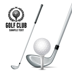 Golf equipments vector