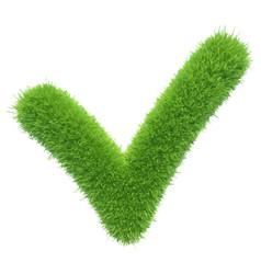 Green grass checkmark vector