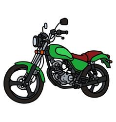 Green light motorcycle vector