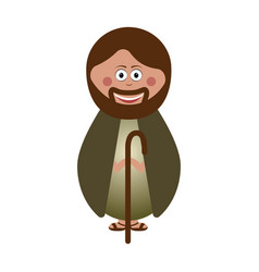 isolated joseph icon vector image