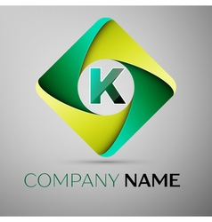K letter colorful logo in the rhombus template for vector