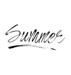 lettering summer card handdrawn positive vector image vector image