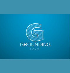 Logo template letter g in the style of a vector