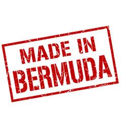 Made in bermuda stamp vector