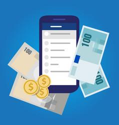 mobile banking account money finance savings vector image vector image