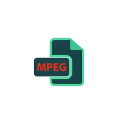 Mpeg icon vector