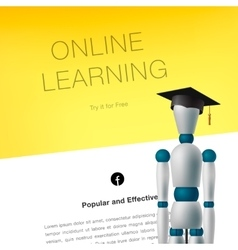 Online learning concept template vector image