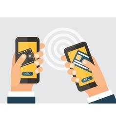 Online money trasfer concept NFC technology vector image
