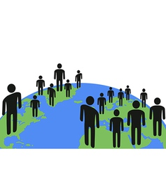 people communicated on earth vector image