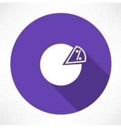 Percentage icon vector