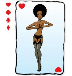 playing card design vector image vector image