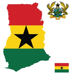 Republic of Ghana Flag vector image vector image