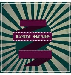 retro movie background vector image