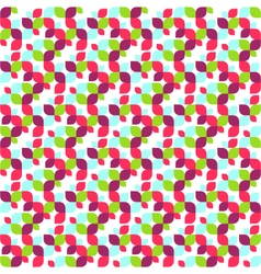 Seamless Bright Abstract Leafs Pattern vector image