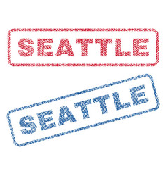 Seattle textile stamps vector