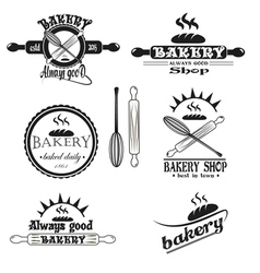 Set of vintage retro bakery logo badges and labels vector image vector image