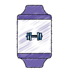 smartwatch device with sport app vector image