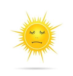 sun sleep yellow vector image vector image