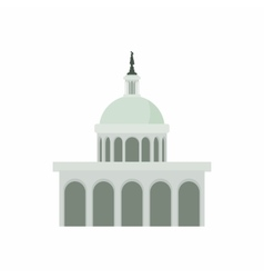 White house in washington dc icon cartoon style vector