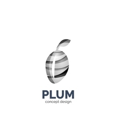 Creative abstract plum fruit logo vector