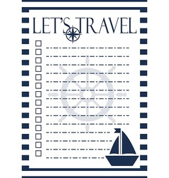 Let s travel checklist vector image