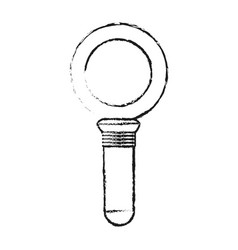 Blurred silhouette image magnifying glass with vector