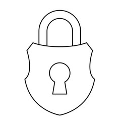 Padlock security object vector