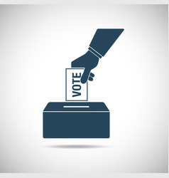 Election day concept icon hand putting voting vector