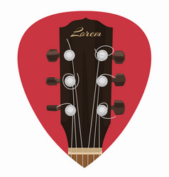 guitar neck icon in mediator form vector image