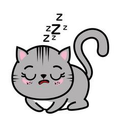 Isolated cute cat sleeping vector