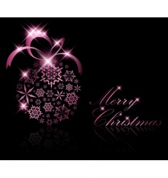 Abstract christmas ball decoration vector