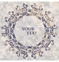 Ornamental round frame for text tribal style spots vector