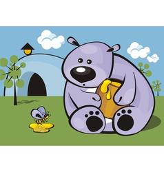greedy bear vector image