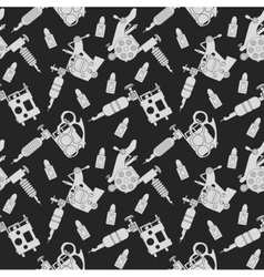 Tattoo machines pattern black vector
