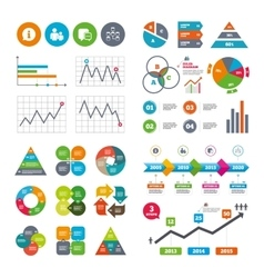 Information sign and group communication icons vector