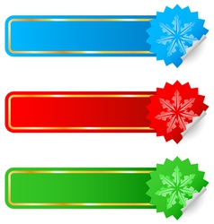 Colored labels selling the new year vector