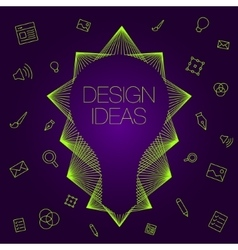 Idea in light bulbs flat style vector