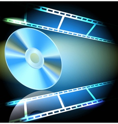 Dvd and filmstrip vector